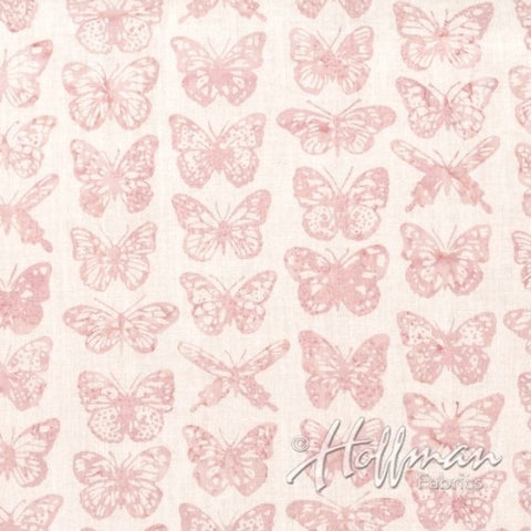 Hoffman Bali Batiks 2001 630 Ballet Pink Butterflies By The Yard