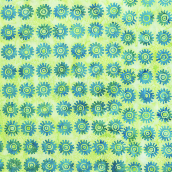 Anthology Bali Batiks 2005Q 6 Turquoise Asters By The Yard