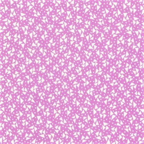 Kaufman Darlene's Favorites 20074 23 Lavender Triangles & Dots By The Yard