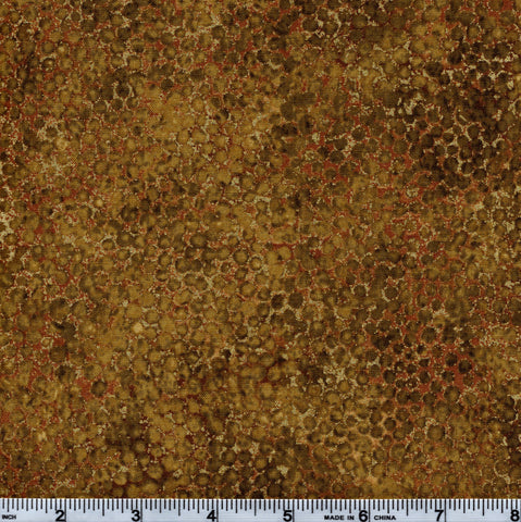 Northcott Artisan Spirit Metallic 20257 740 Golden Honeycomb On Bronze By The Yard