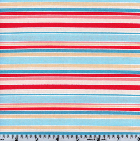 RJR Lovebirds 2030 03 Multi Color Stripes Blue By The Yard