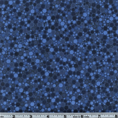 RJR Fabrics Basically Patrick 2034 10 Admiral Hexagons By The Yard
