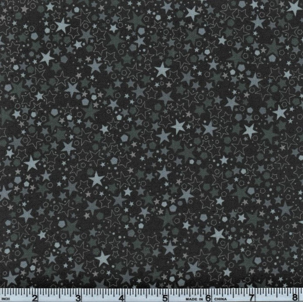 RJR Fabrics Basically Patrick 2035 10 Slate Black Starry Sky By The Yard