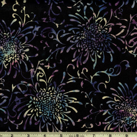 Hoffman Bali Batiks 2041 332 Julie Plum Peonies By The Yard
