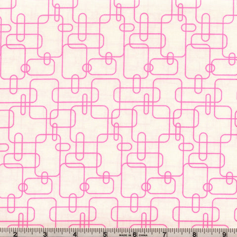 RJR Welcome To My World 2044 3 White With Pink Maze By The Yard