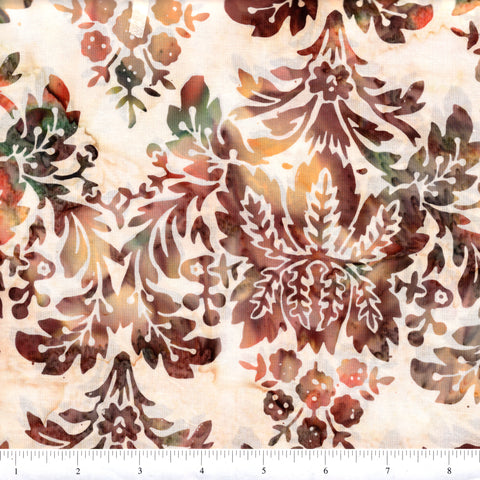 Hoffman Bali Batik 2049 36 Amber Large Stylized Floral By The Yard