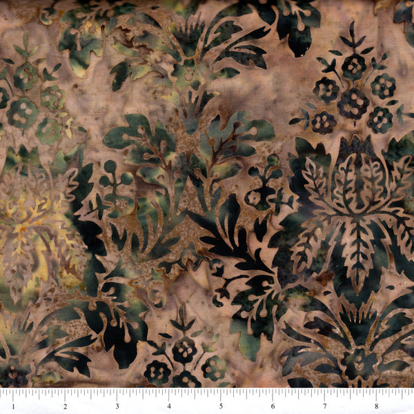 Hoffman Bali Batik 2049 80 Taupe Large Stylized Floral By The Yard