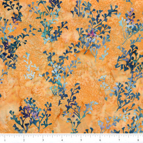 Hoffman Bali Batik 2057 250 Sahara Multi Branches On Yellow By The Yard