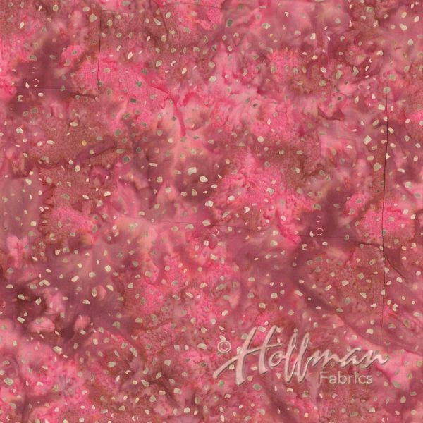 Hoffman Bali Batiks 2059 557 Azalea With Gold Splashes By The Yard