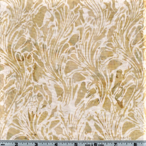 Hoffman Bali Batiks 2062 33 Cream Abstract Seaweed By The Yard