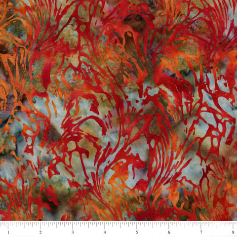 Hoffman Bali Batiks 2062 592 July Abstract Seaweed By The Yard