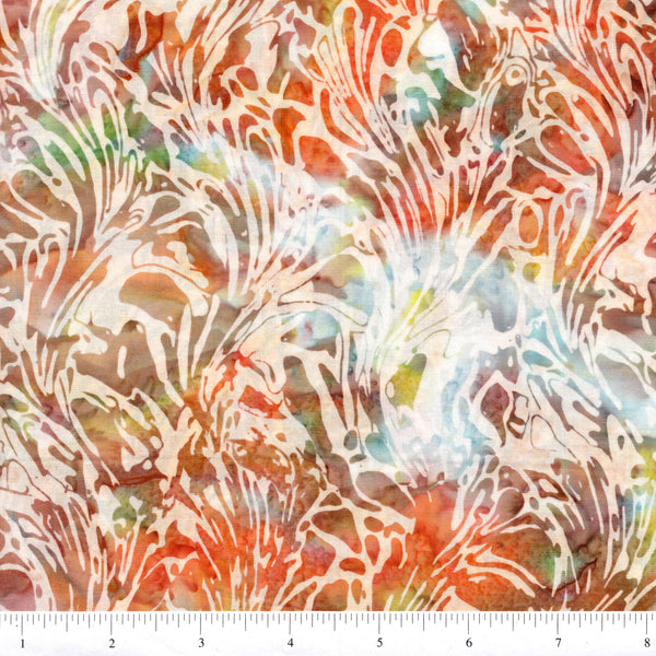 Hoffman Bali Batiks 2062 650 Impressionist Abstract Seaweed By The Yard