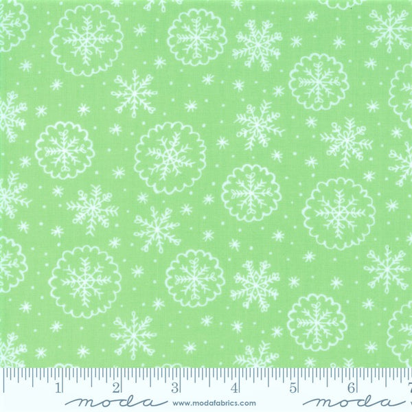 Moda Snow Day 20635 16 Let It Snow Sprig Green By The Yard