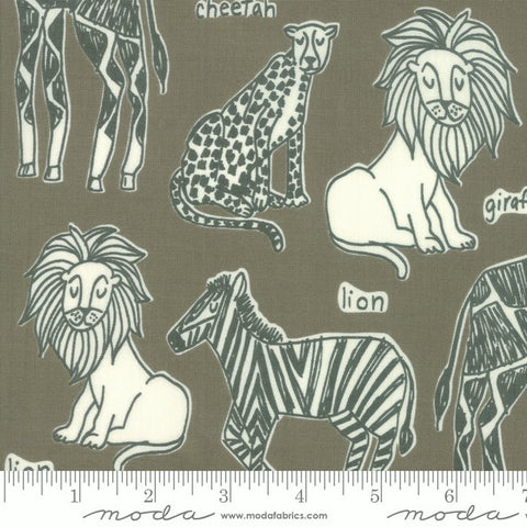 Moda Safari Life 20642 13 Ash Safari Kingdom By The Yard