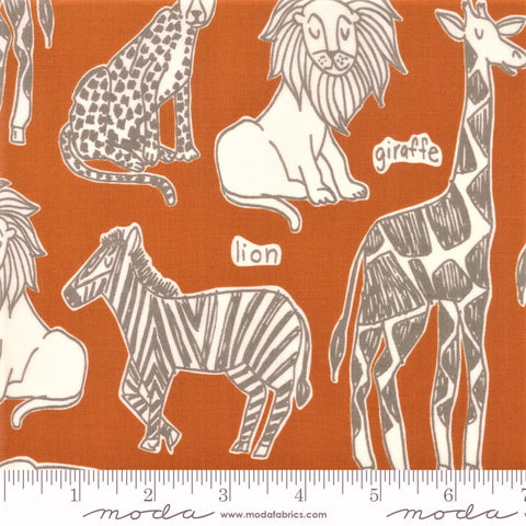 Moda Safari Life 20642 17 Amber Safari Kingdom By The Yard