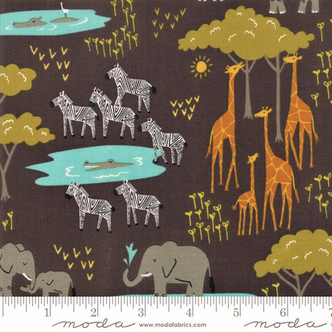 Moda Safari Life 20643 15 Black In The Native By The Yard