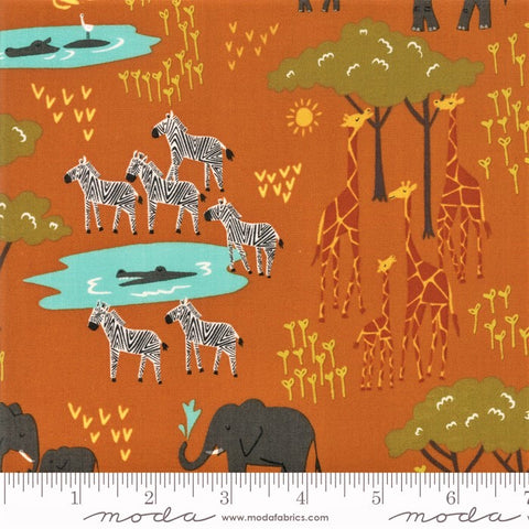 Moda Safari Life 20643 17 Amber In The Native By The Yard