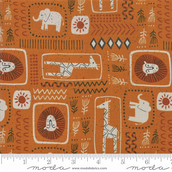 Moda Safari Life 20644 14 Amber African Animal Print By The Yard