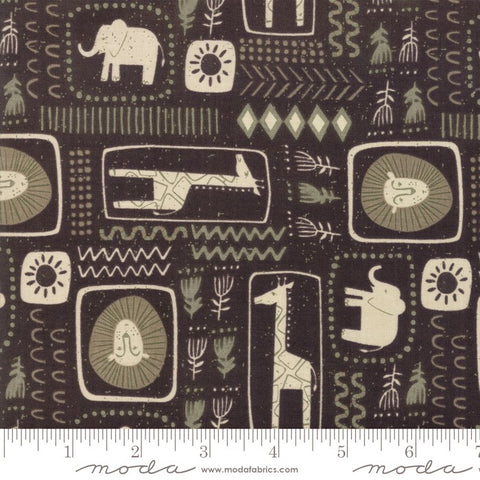 Moda Safari Life 20644 15 Black African Animal Print By The Yard