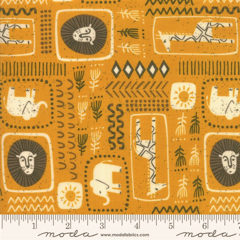 Moda Safari Life 20644 18 Dijon African Animal Print By The Yard