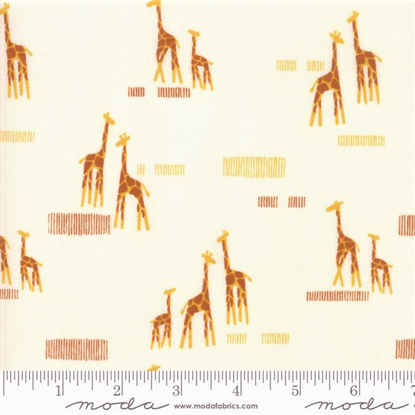 Moda Safari Life 20647 11 Cream Giraffe Life By The Yard