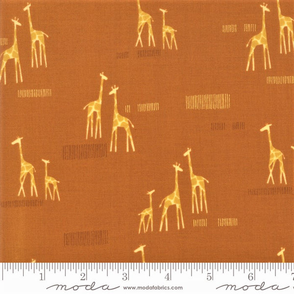Moda Safari Life 20647 17 Amber Giraffe Life By The Yard