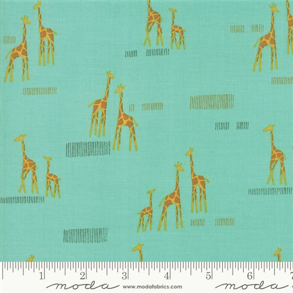 Moda Safari Life 20647 20 Aqua Giraffe Life By The Yard