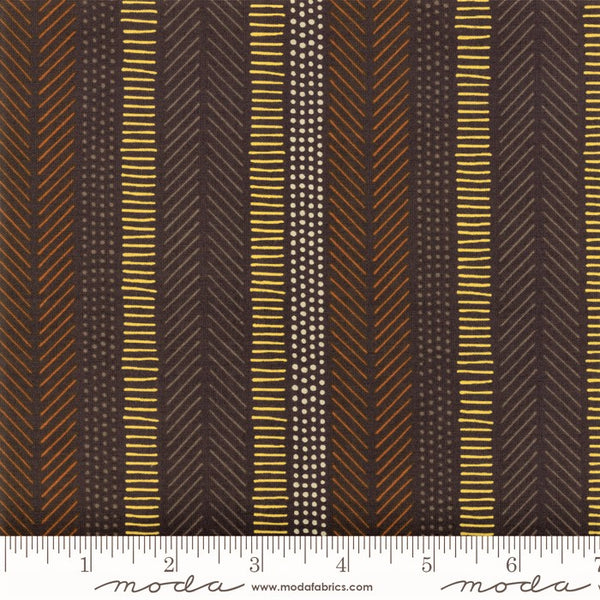 Moda Safari Life 20648 15 Black African Art Stripe By The Yard