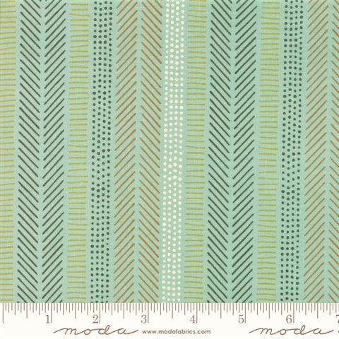 Moda Safari Life 20648 20 Aqua African Art Stripe By The Yard