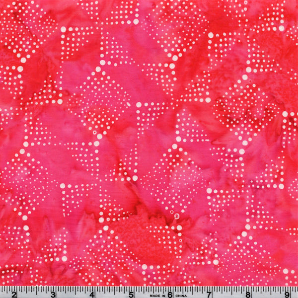Hoffman Bali Batiks 2065 12 Pink Dotted Diamonds & Pinwheels By The Yard