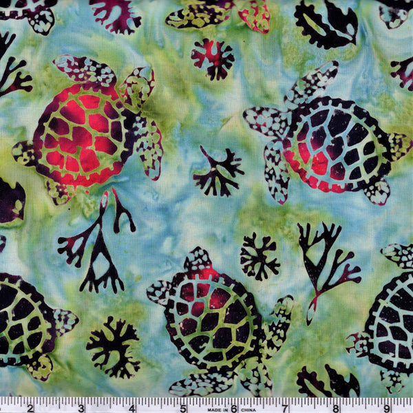 Hoffman Bali Batiks 2103 519 Hibiscus Turtle Bay By The Yard