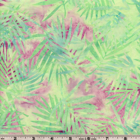 Hoffman Bali Batik 2104 484 Seaside Palm Ferns on Purple By The Yard