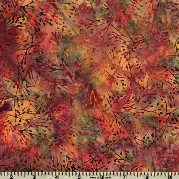 Hoffman Bali Batiks 2106 619 Bohemia Twig Spray By The Yard