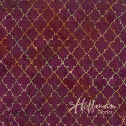 Hoffman Bali Batik 2117 438 Fleur Diamonds On Crocus By The Yard