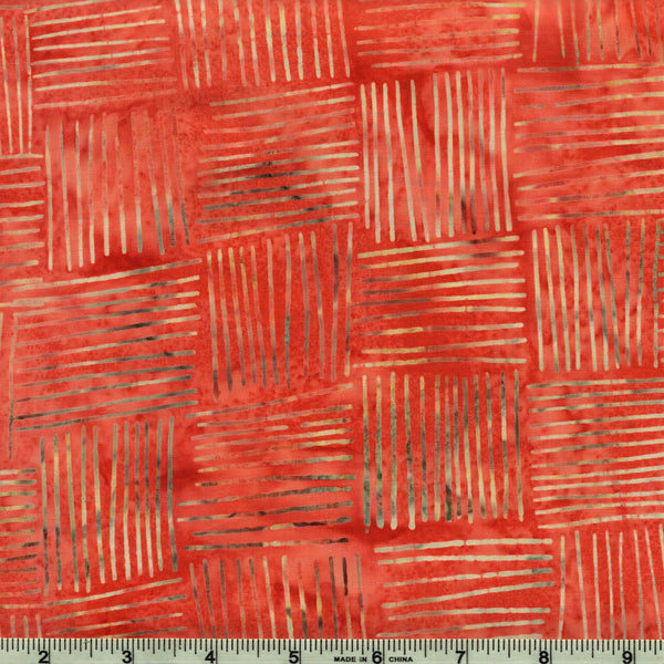 Hoffman Bali Batiks 2121 569 Crawfish Cross Hatch Squares By The Yard