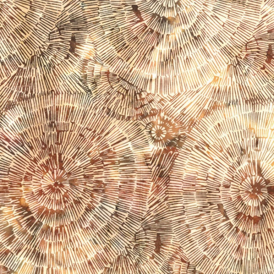 Hoffman Bali Batiks 2130 36 Amber Seashell Close Ups By The Yard