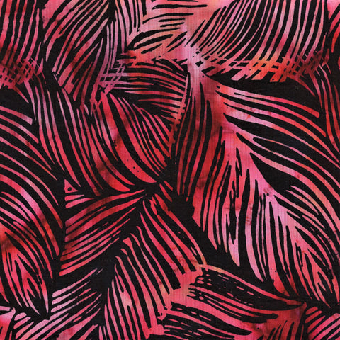 Hoffman Bali Batiks 2138 85 Black Berry Rubber Fig Leaves By The Yard