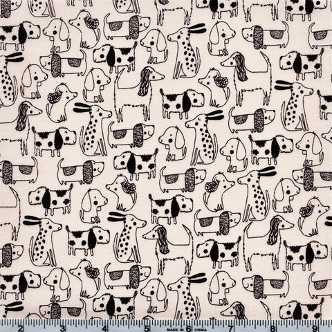 Makower A Walk In The Park 2144 Q Dogs With Spots Cream By The Yard
