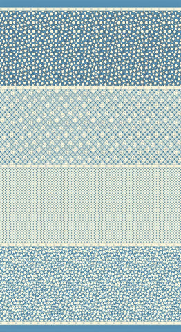 Moda Bubble Pop 21760 16 Blue Four In One By The Yard
