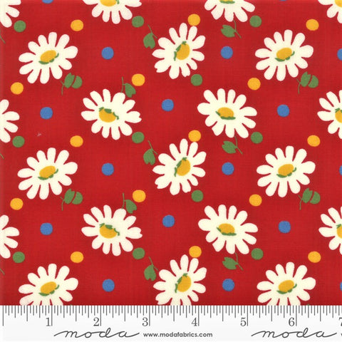 Moda Bubble Pop 21761 14 Red Big Daisy By The Yard