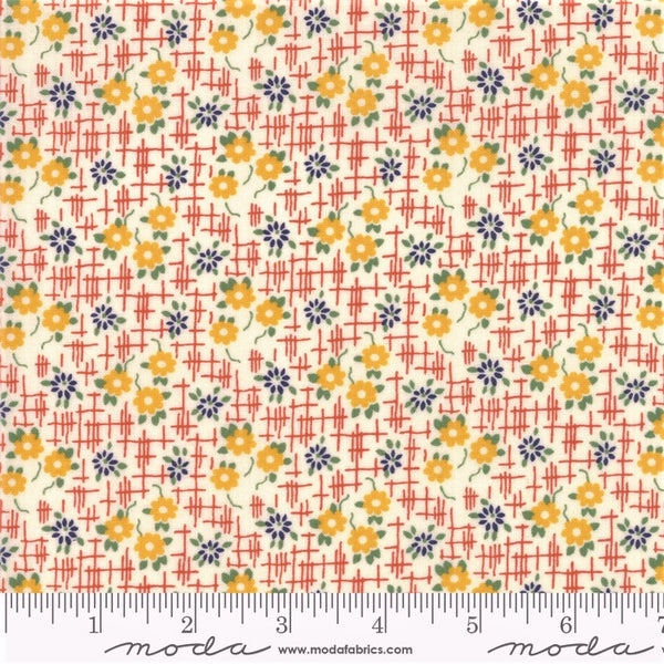 Moda Bubble Pop 21763 12 Orange Grid Flowers By The Yard