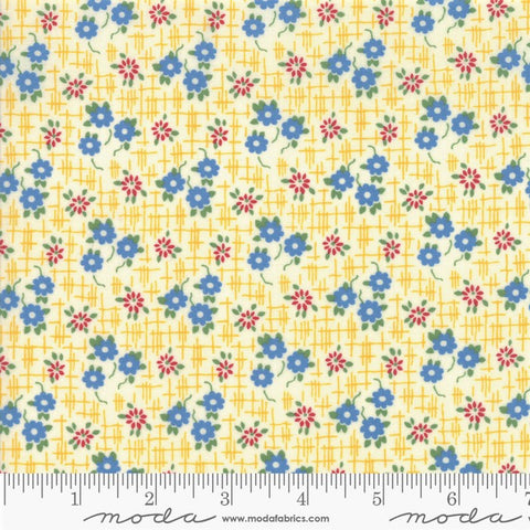 Moda Bubble Pop 21763 13 Yellow Grid Flowers By The Yard