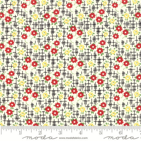 Moda Bubble Pop 21763 18 Black Grid Flowers By The Yard