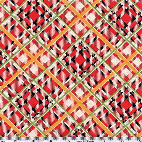 Moda Bubble Pop 21765 11 Red Bias Plaid By The Yard
