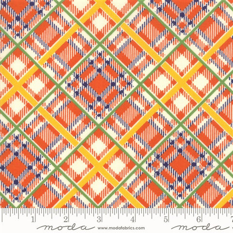 Moda Bubble Pop 21765 12 Orange Bias Plaid By The Yard