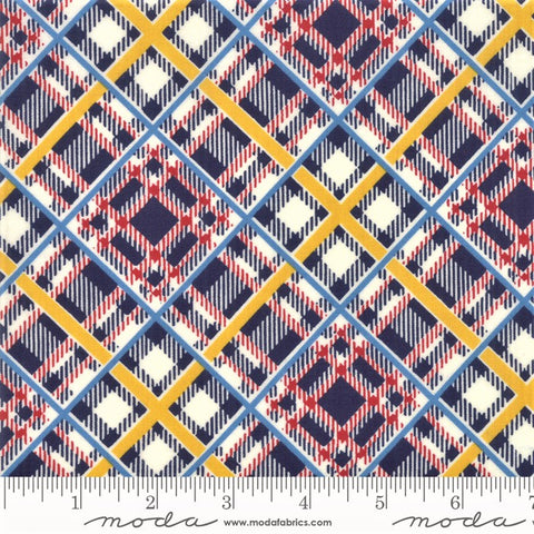 Moda Bubble Pop 21765 15 Navy Bias Plaid By The Yard
