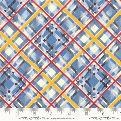 Moda Bubble Pop 21765 16 Blue Bias Plaid By The Yard