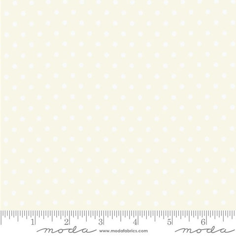 Moda Bubble Pop 21766 11 Cream/White Reproduction Dots By The Yard