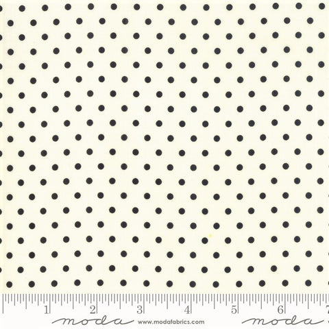 Moda Bubble Pop 21766 18 Cream/Black Reproduction Dots By The Yard