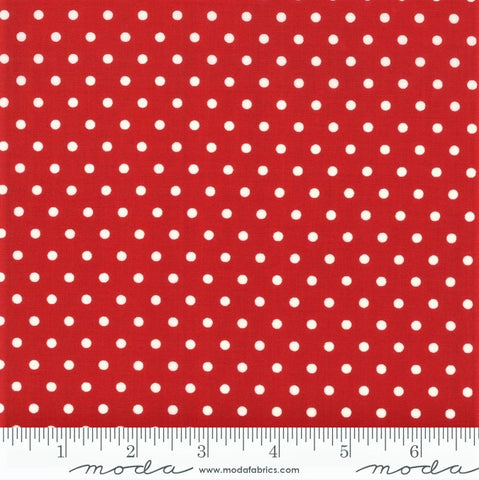 Moda Bubble Pop 21766 19 Red Reproduction Dots By The Yard